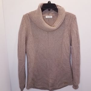 Calvin Klein Cowl Neck Sweater Tan Beige Medium